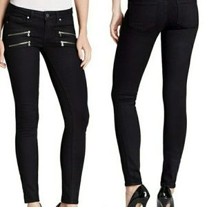 PAIGE | Edgemont Black Shadow Mid Rise Skinnies